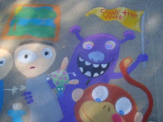Purple Chalk Monster