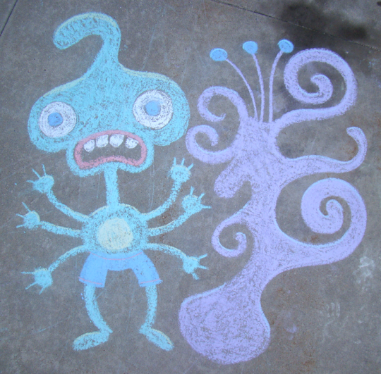 Chalk Alien and Plant